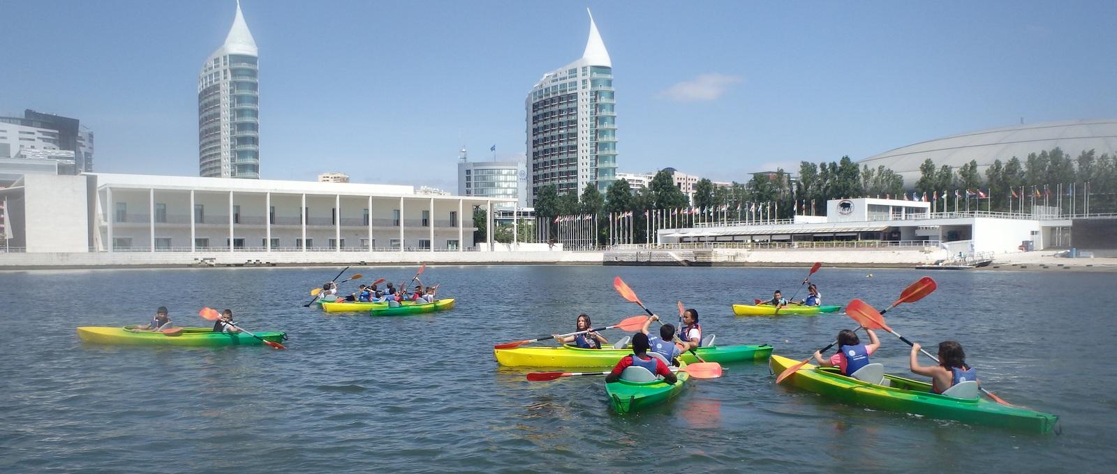 Aulas de canoagem no Centro Náutico Marina Parque das Nações